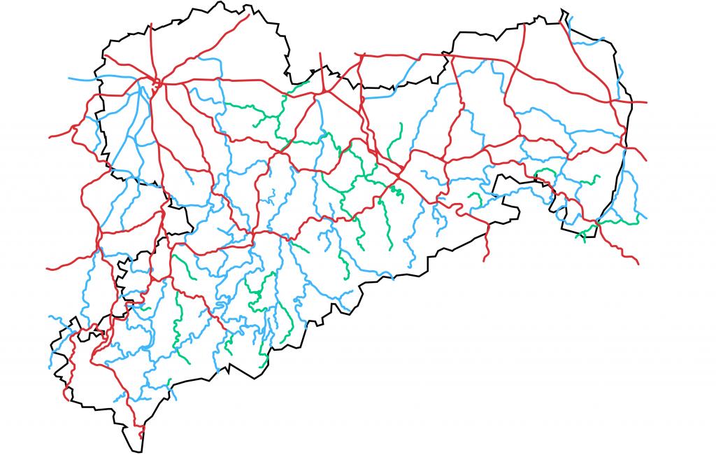 Das Eisenbahnnetz in Sachsen 1919