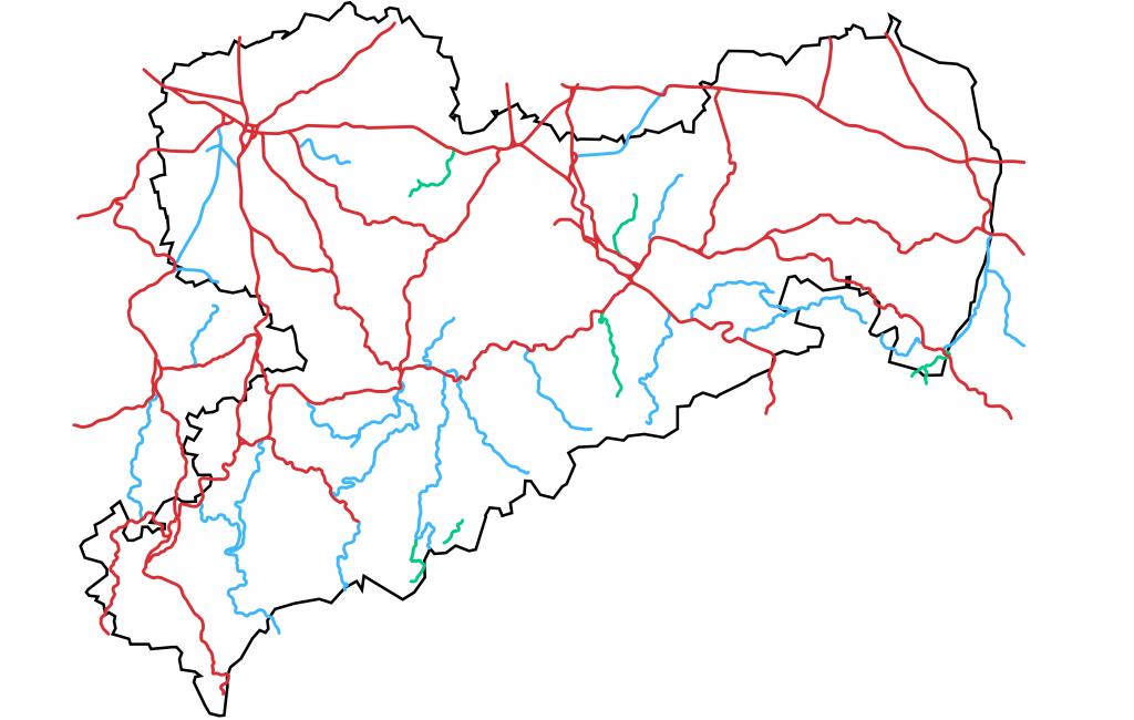 Das Eisenbahnnetz in Sachsen 2019